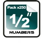 "1/2"" (half inch) Race Numbers - 250 pack"